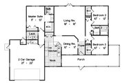 Ranch Style House Plan - 3 Beds 2 Baths 1668 Sq/Ft Plan #417-138 Floor Plan - Main Floor Plan