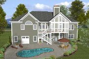 Craftsman Style House Plan - 3 Beds 2.5 Baths 2000 Sq/Ft Plan #56-568 Exterior - Rear Elevation