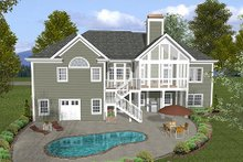 Dream House Plan - Craftsman Exterior - Rear Elevation Plan #56-568
