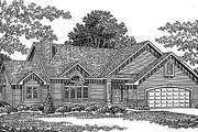 Traditional Style House Plan - 3 Beds 2.5 Baths 2124 Sq/Ft Plan #70-310 Exterior - Front Elevation