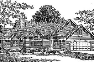 Traditional Exterior - Front Elevation Plan #70-310