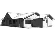 Craftsman Exterior - Rear Elevation Plan #895-93