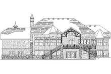 House Plan Design - European Exterior - Rear Elevation Plan #5-389