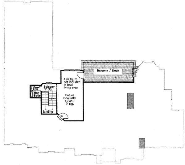 Dream House Plan - European Floor Plan - Upper Floor Plan #310-678