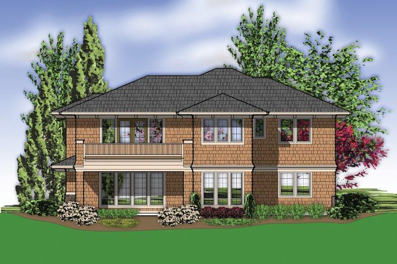 Prairie Exterior - Rear Elevation Plan #48-623 - Houseplans.com
