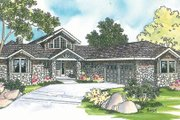 Ranch Style House Plan - 3 Beds 2.5 Baths 2556 Sq/Ft Plan #124-218 Exterior - Front Elevation