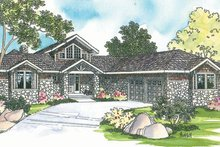 Ranch Exterior - Front Elevation Plan #124-218