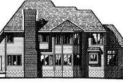 European Style House Plan - 4 Beds 3.5 Baths 3306 Sq/Ft Plan #20-1110 Exterior - Rear Elevation
