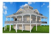 Southern Style House Plan - 2 Beds 2 Baths 1840 Sq/Ft Plan #481-12 Exterior - Rear Elevation