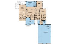 Traditional Floor Plan - Main Floor Plan Plan #923-11