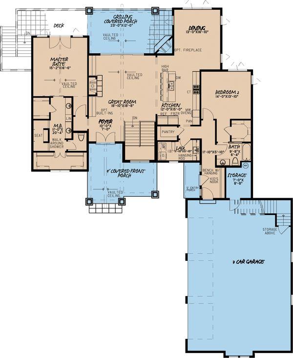 Traditional Floor Plan - Main Floor Plan #923-11