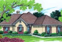 Mediterranean Exterior - Front Elevation Plan #45-248