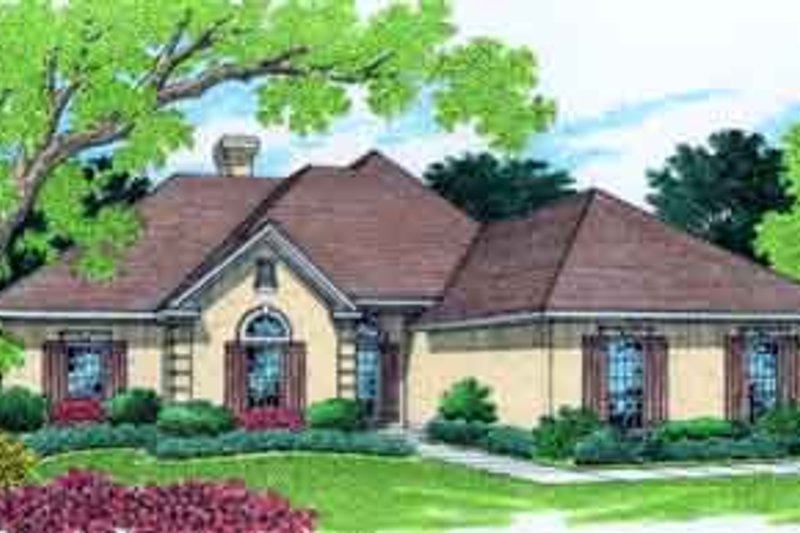 Dream House Plan - Mediterranean Exterior - Front Elevation Plan #45-248