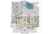 Farmhouse Floor Plan - Main Floor Plan Plan #51-1150