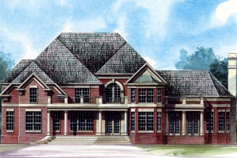 European Exterior - Front Elevation Plan #119-240