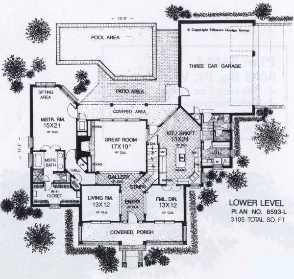 Colonial Floor Plan - Main Floor Plan #310-918