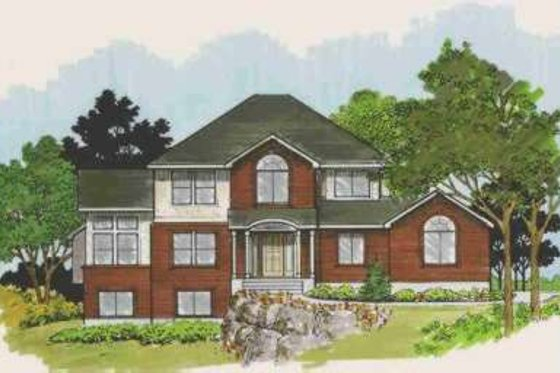 Traditional Exterior - Front Elevation Plan #308-120