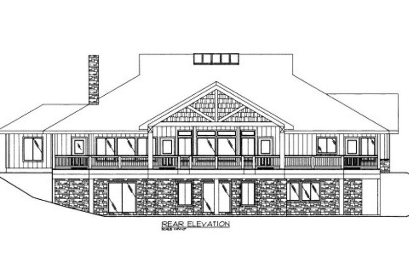 Bungalow Exterior - Rear Elevation Plan #117-610 - Houseplans.com