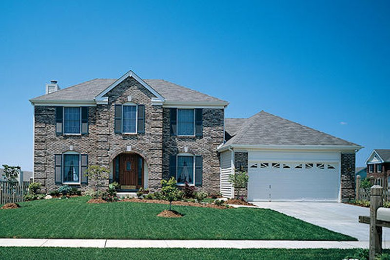 Dream House Plan - Colonial Exterior - Front Elevation Plan #57-206