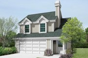 Traditional Style House Plan - 1 Beds 1 Baths 615 Sq/Ft Plan #57-364 Exterior - Front Elevation