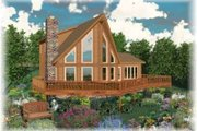 Contemporary Style House Plan - 3 Beds 3 Baths 1828 Sq/Ft Plan #81-710