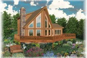 Contemporary Exterior - Front Elevation Plan #81-710