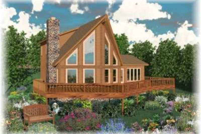 Contemporary Style House Plan - 3 Beds 3 Baths 1828 Sq/Ft Plan #81-710 Exterior - Front Elevation