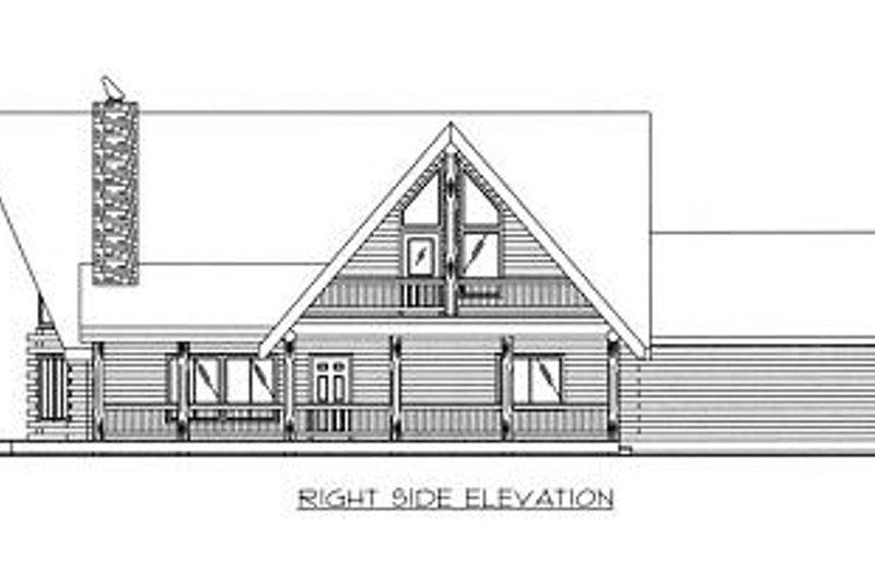 Log Exterior - Other Elevation Plan #117-504 - Houseplans.com