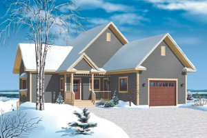 Cottage Exterior - Front Elevation Plan #23-2318