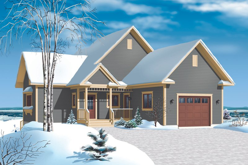 Cottage Exterior - Front Elevation Plan #23-2318