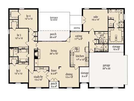 European Floor Plan - Main Floor Plan Plan #36-442