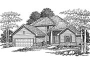 Traditional Style House Plan - 3 Beds 2.5 Baths 2018 Sq/Ft Plan #70-283 Exterior - Front Elevation