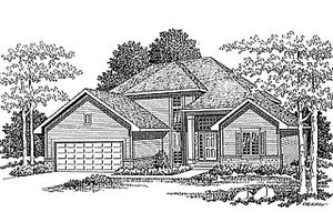 Traditional Exterior - Front Elevation Plan #70-283