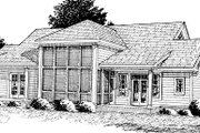Farmhouse Style House Plan - 4 Beds 3 Baths 2512 Sq/Ft Plan #20-167 Exterior - Other Elevation