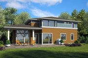 Modern Style House Plan - 3 Beds 2.5 Baths 2710 Sq/Ft Plan #48-938 Exterior - Rear Elevation