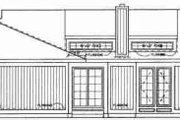 House Plan - 3 Beds 2 Baths 2274 Sq/Ft Plan #72-313 Exterior - Rear Elevation