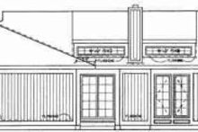 House Blueprint - Exterior - Rear Elevation Plan #72-313