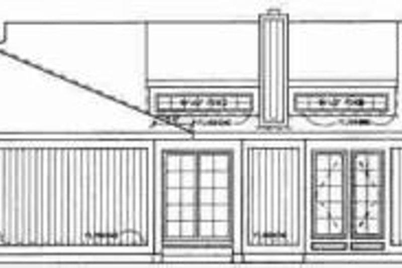 Exterior - Rear Elevation Plan #72-313 - Houseplans.com