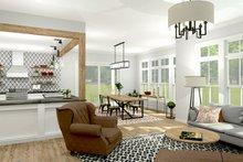 Colonial Interior - Family Room Plan #1010-156