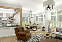 House Design - Colonial Interior - Family Room Plan #1010-156