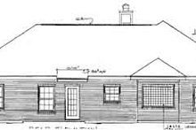Mediterranean Exterior - Rear Elevation Plan #14-129