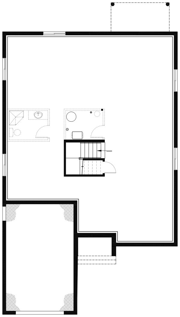 Craftsman Floor Plan - Lower Floor Plan #23-2692