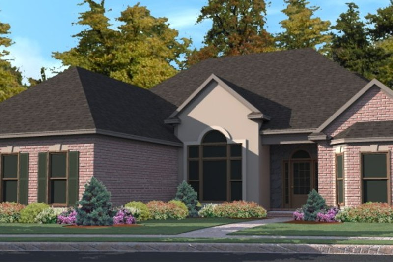 Traditional Style House Plan - 4 Beds 3 Baths 3039 Sq/Ft Plan #63-353 Exterior - Front Elevation