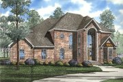 European Style House Plan - 3 Beds 2.5 Baths 2653 Sq/Ft Plan #17-239 Exterior - Front Elevation
