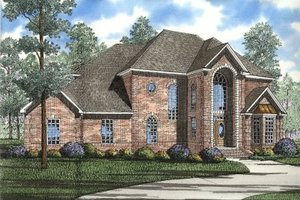 European Exterior - Front Elevation Plan #17-239