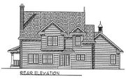 Country Style House Plan - 4 Beds 2.5 Baths 1953 Sq/Ft Plan #70-253 Exterior - Rear Elevation