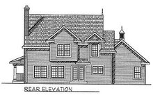 House Plan Design - Country Exterior - Rear Elevation Plan #70-253