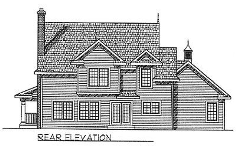 Country Exterior - Rear Elevation Plan #70-253 - Houseplans.com