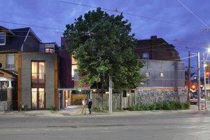Modern design, 2 story studio loft design, front elevation