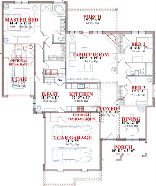 Traditional Floor Plan - Main Floor Plan Plan #63-143
